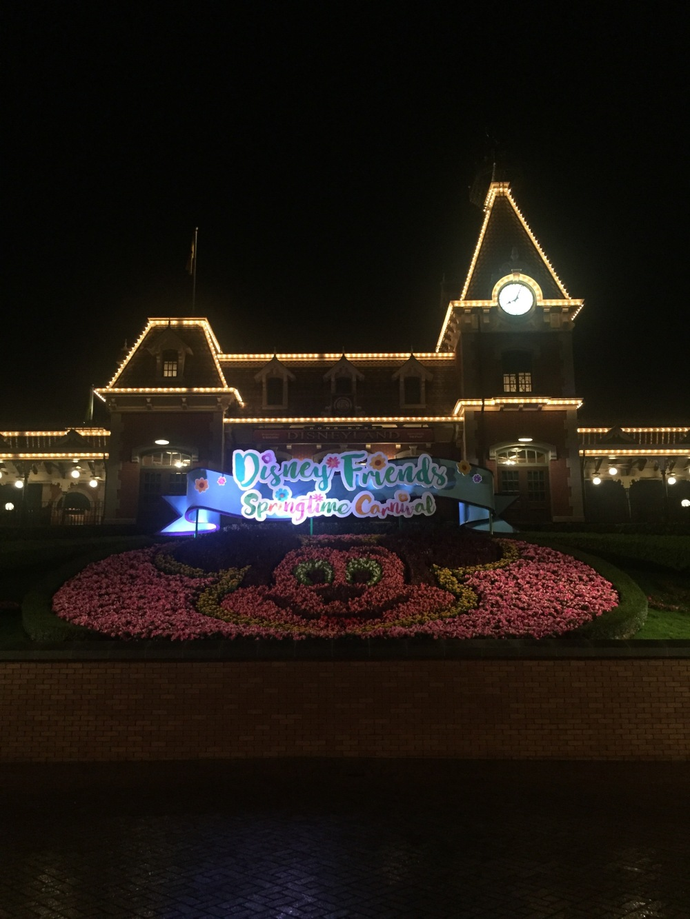 The Hong Kong Disneyland train station